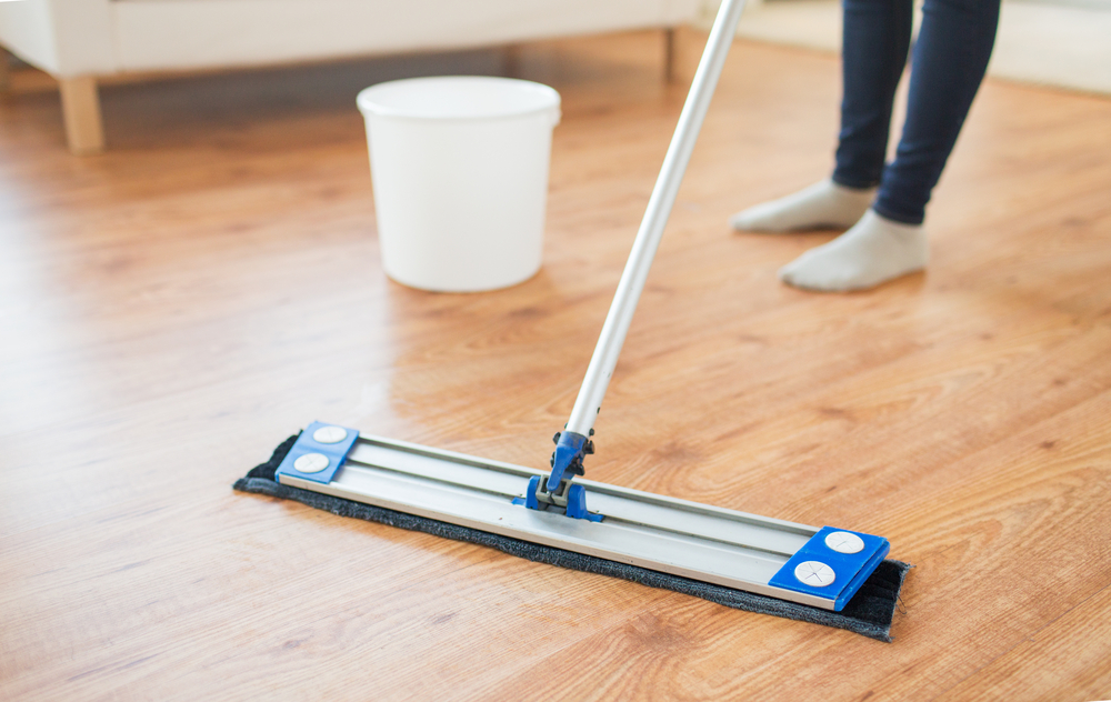 Scrub away scum on your laminate floors